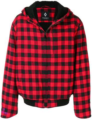 Marcelo Burlon County of Milan Eagle Checkered hooded bomber jacket