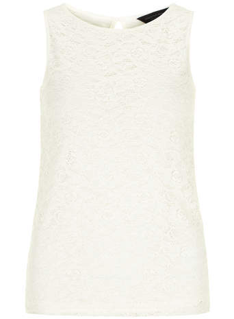 Dorothy Perkins Ivory lace front shell top