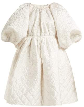 Cecilie Bahnsen - Ava Quilted Silk Mini Dress - Womens - White