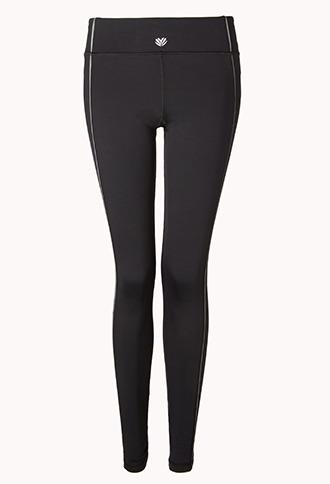 Forever 21 Reflective Skinny Workout Leggings