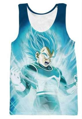 29c8c8b752611 Dragon Ball Z Dragonball Z Super Saiyan Goku Sleeveless T-Shirt Tees  Crewneck Vest Top