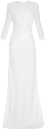 GIVENCHY Ruched-side crepe-jersey gown $3,191 thestylecure.com