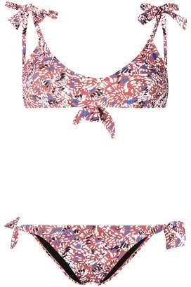 Lulu Emmanuela Swimwear print bow tie bikini