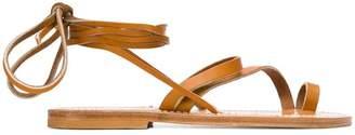 K. Jacques ankle fastened flat sole sandlas