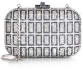 Judith Leiber Couture Slide Lock Square-Patterned Swarovski Crystal Clutch