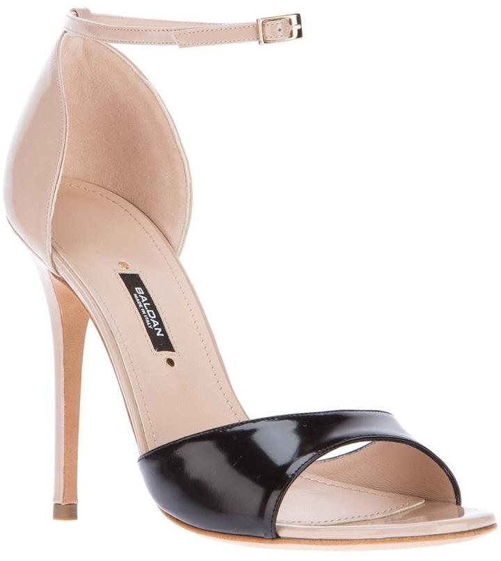 Baldan bi-colour patent sandal