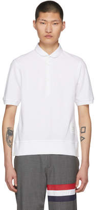 Thom Browne White Classic Collection Polo