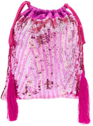 ATTICO sequinned pouch bag