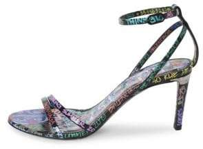 Balenciaga Graffiti Stiletto Sandals