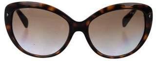 Prada Polarized Tortoiseshell Oversize Sunglasses
