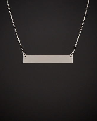 Italian Gold 14K Polished Engravable Bar Necklace