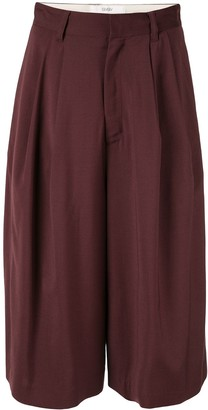G.V.G.V. pleated cropped trousers
