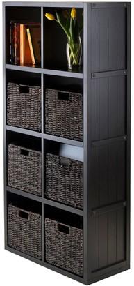 Winsome Timothy 7-piece 8-Cube Storage Shelf & Basket Set