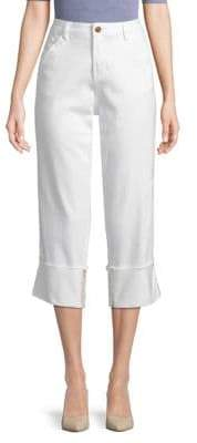 Jag Eden Wide-Cuff Cropped Pants