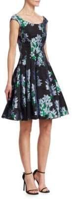 Zac Posen Printed A-Line Dress