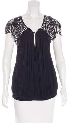 Jean Paul Gaultier Crochet-Accented Draped Top $85 thestylecure.com