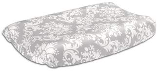 The Peanut Shell The Changing Pad Cover - Gray Damask