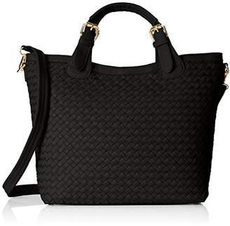 MG Collection Tatiana Designer Woven Tote Hang Bag Shoulder Bag