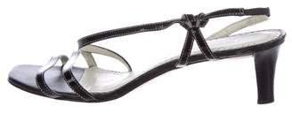 Lauren Ralph Lauren Patent Leather Slingback Sandals