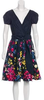Naeem Khan Silk Knee-Length Dress w/ Tags