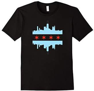 SKYLINE CITY CHICAGO FLAG T Shirt