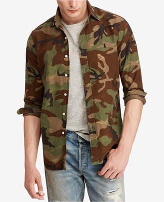 Polo Ralph Lauren Men's Camouflage Oxford Classic Fit Shirt
