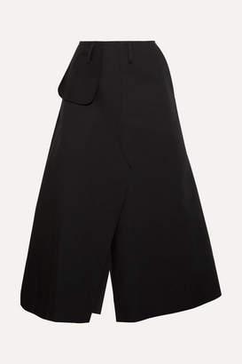 Awake Belted Cotton-twill Midi Skirt