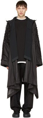Y-3 SPORT Black Track Poncho Coat $790 thestylecure.com