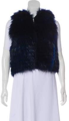 J. Mendel Hooded Fur Vest