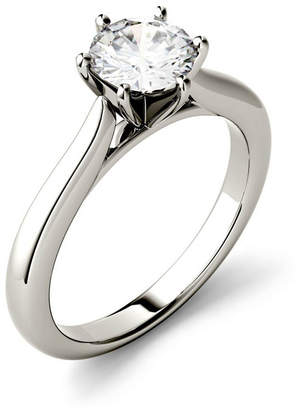 Charles & Colvard Moissanite Solitaire Engagement Ring 1/2 ct. t.w. Diamond Equivalent in 14k White Gold