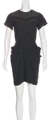 Isabel Marant Studded Mini Dress Black Studded Mini Dress