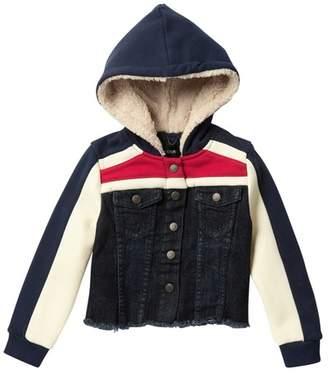 Joe's Jeans Striped Faux Fur Denim Jacket (Little Girls)