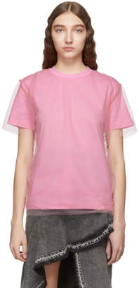 MSGM Pink Tulle T-Shirt