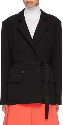 Tome Belted double breasted virgin wool twill blazer