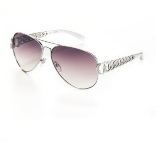 GUESS Embellished Aviator Sunglasses