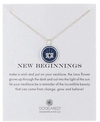 Dogeared New Beginnings Enamel Lotus Pendant Necklace