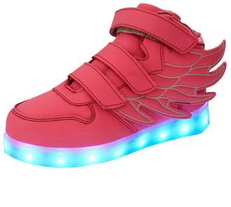 Acme Kids Boy Girl LED Light Up Sneaker Athletic Wings Trainers High-top Shoes USB Charging Shoes