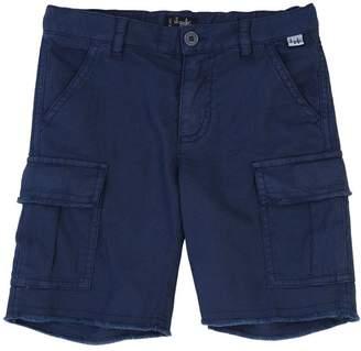 Il Gufo Stretch Cotton & Linen Cargo Shorts