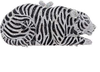 Fawziya Diamond Studded Tiger Shaped Clutch and Handbag Bridal Purse Bag