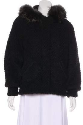 Rebecca Minkoff Fur-Trimmed Wool Jacket