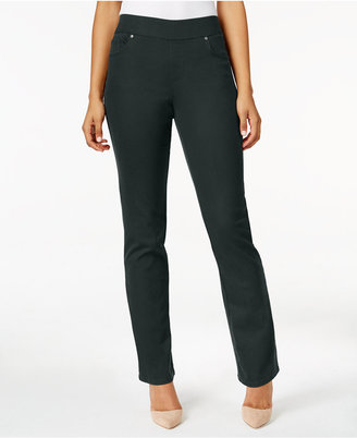 Style & Co. Carbon Gray Wash Straight-Leg Jeggings, Only at Macy's $49 thestylecure.com