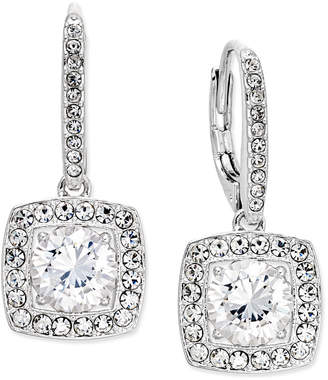 Danori Silver-Tone Crystal Square Drop Earrings, Created for Macy's