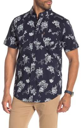 Ben Sherman Tropical Floral Print Short Sleeve Shirt