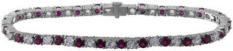FINE JEWELRY Lab-Created Ruby and White Sapphire Sterling Silver Bracelet
