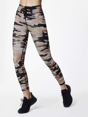 The Upside Striped Camo Matte Midi Pant