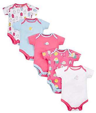 Mothercare Baby Girls' 5 Pack Bodysuit