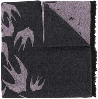 McQ swallow pattern scarf