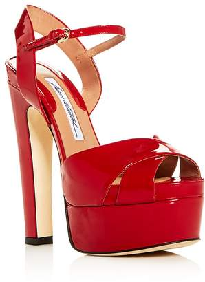 Brian Atwood Women's Madison Patent Leather High-Heel Platform Sandals