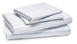Bloomingdale's Essentials Chambray Stripe Sheet Set, King - 100% Exclusive