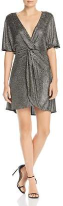 Show Me Your Mumu Get Twisted Metallic Mini Dress